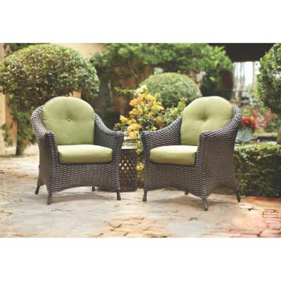 Lake Adela Patio Chat Chairs with Cilantro Cushions (2-Pack)