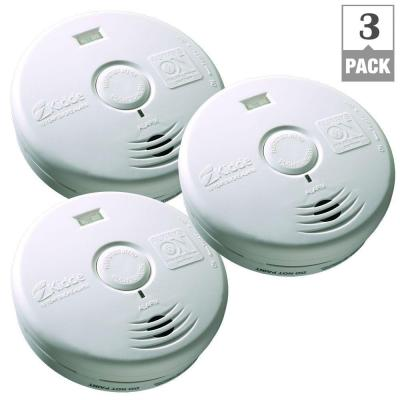 Kidde 10-Year Worry Free Battery Operated Smoke Alarm with LED Escape Light (3-Pack)