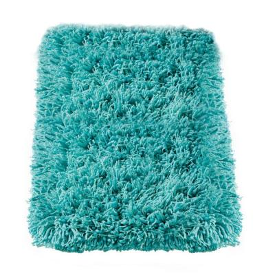 Ultimate Shag Turquoise 9 ft. x 12 ft. Area Rug