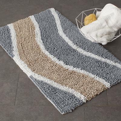 Chunky Loop Wavy Cotton Bath Rug