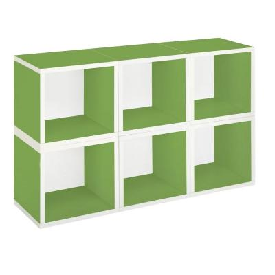 zBoard 6-Cubes Eco Modular Cubby Organizer, Tool-Free Assembly Storage in Green