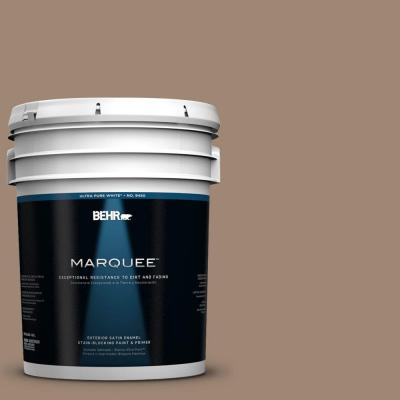 BEHR MARQUEE 5-gal. #QE-22 Terrazzo Brown Satin Enamel Exterior Paint