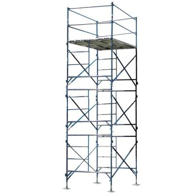 PRO-SERIES 16 ft. x 7 ft. x 5 ft. 3-Story Commercial Grade Scaffold Tower with Base Plates 750 lb. Load Capacity