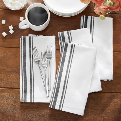 Farmhouse Living Homestead Stripe 20 in. x 20 in Napkins (Set of 4)