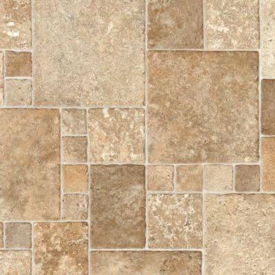 Sandstone Mosaic Vinyl Sheet - 6 in. x 9 in. Take Home Sample Product Photo