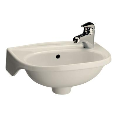 Narrow Wall Mount Sink : Pegasus Tina Wall-Mounted Bathroom Sink in Bisque-4-551BQ - The Home ...
