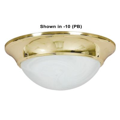 1-Light Rubbed Bronze Flush Mount Product Photo