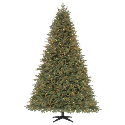 7.5 ft. Stamford Pine Quick-Set Artificial Christmas Tree with 750 Clear Lights Product Photo