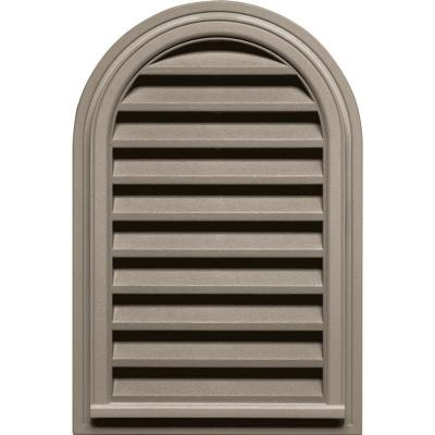 22 in. x 32 in. Round Top Gable Vent in Clay Product Photo