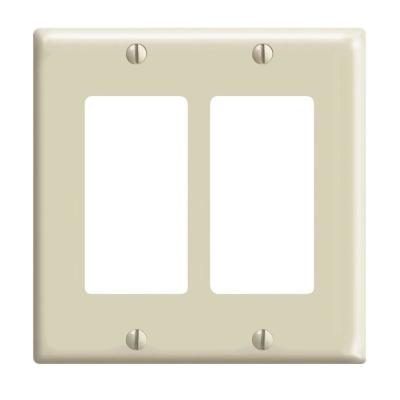 Decora 2-Gang Wall Plate, Ivory