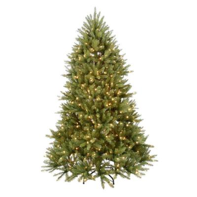 7.5 ft. Pre-Lit Dunhill Fir Hinged Artificial Christmas Tree with Clear Lights Product Photo