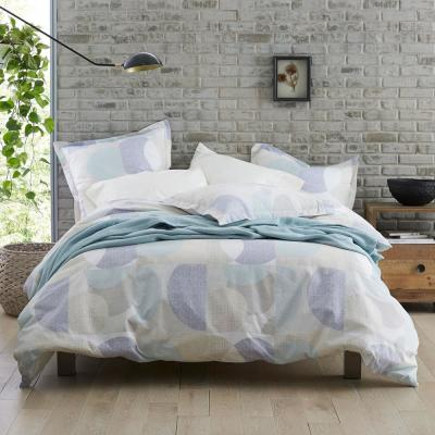 Circles Geometric Organic Cotton Percale Duvet Cover