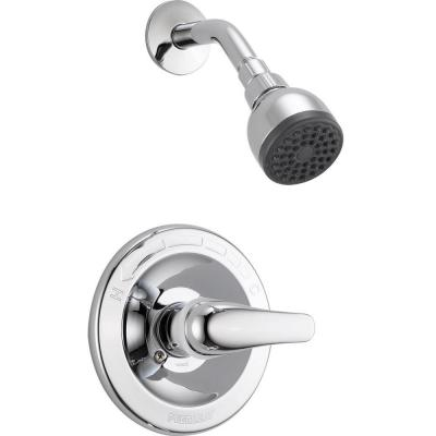 1-Handle Shower Faucet Trim Kit in Chrome (Valve Not Included) Product Photo