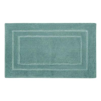 Pearl Double Border Lake Blue 17 in. x 24 in. Bath
