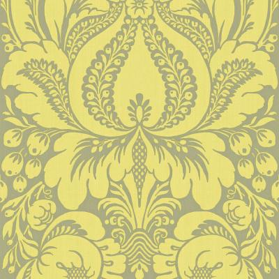 the wallpaper company 56 sq ft lime large scale damask