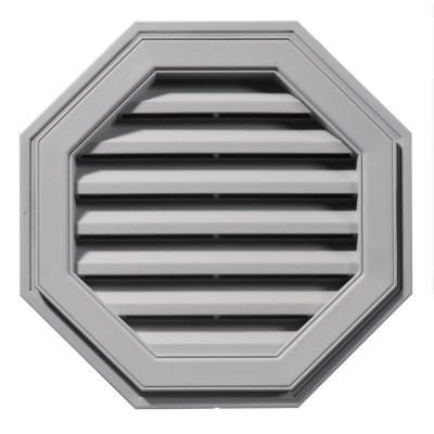 22 in. Octagon Gable Vent in Gray