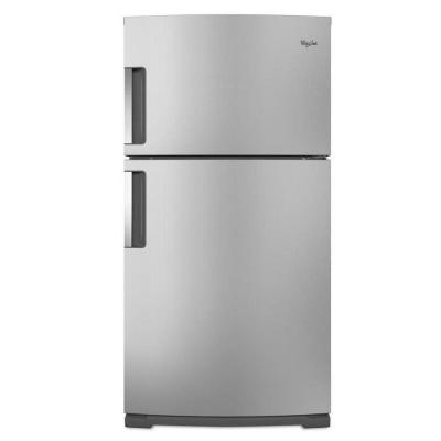 Whirlpool 21.1 cu. ft. Top Freezer Refrigerator in Monochromatic Stainless Steel
