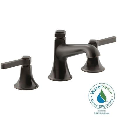 KOHLER Georgeson 8 in. Widespread 2-Handle Water-Saving Bathroom Faucet in Oil Rubbed Bronze