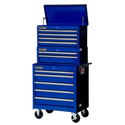 International Tech Series 27 in. 11-Drawer Tool Chest and Cabinet Combo in Blue
