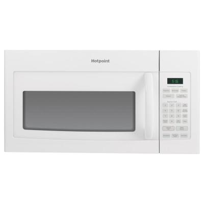 Hotpoint 1 6 Cu Ft Over The Range Microwave Oven In