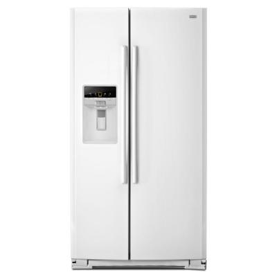 Maytag 26.5 cu. ft. Side by Side Refrigerator in White-DISCONTINUED