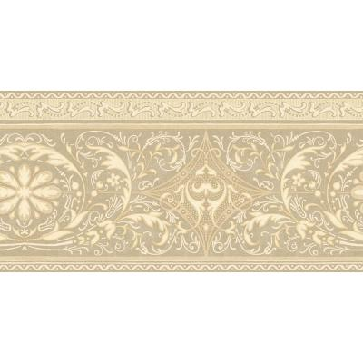 The Wallpaper Company In X 15 Ft Beige Filigree