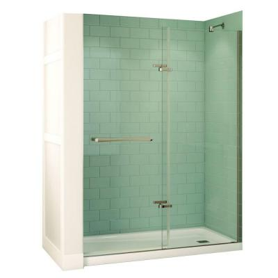 Reveal 32 in. x 60 in. x 74-1/2 in. Shower Stall