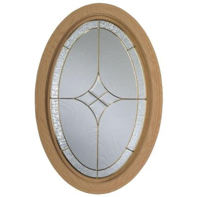 Century Polyurethane Windows, 20-3/4 in. x 32 in., Primed, Rough Opening, with Insulated Tempest Leaded Glass-DISCONTINUED