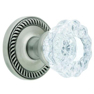 Newport Rosette Antique Pewter with Passage Versailles Crystal Knob