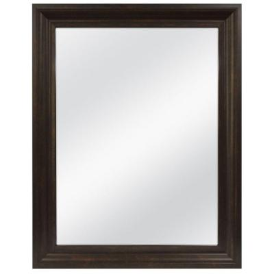 22.5 in. x 28.5 in. Java Framed Mirror Product Photo