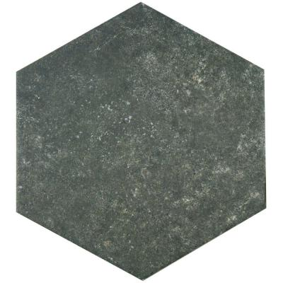 Traffic Hex Dark 8-5/8 in. x 9-7/8 in. Porcelain Floor and Wall Tile (11.19 sq. ft. / case) Product Photo