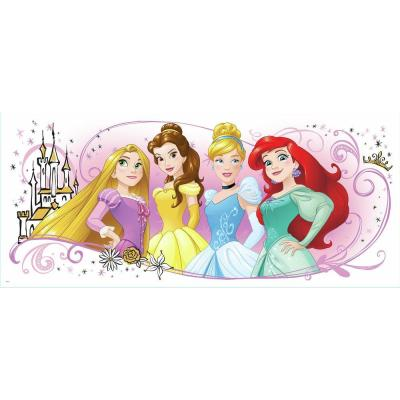 5 in. x 19 in. Disney Princess Friendship Adventures 1-Piece Peel and Stick Giant Wall Graphic Product Photo
