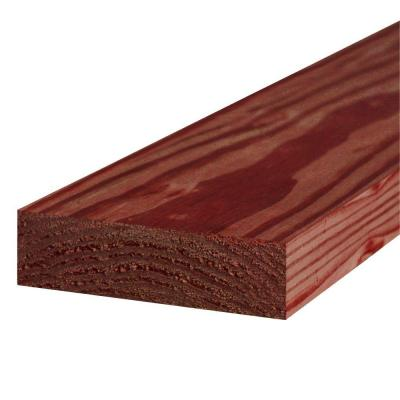 2 in. x 6 in. x 10 ft. #1 Redwood-Tone Ground