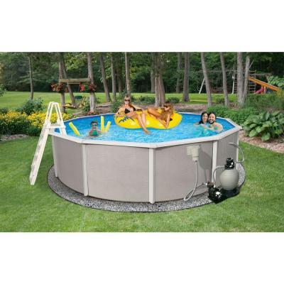 Belize Round Above Ground Pool Package 52 in. Deep