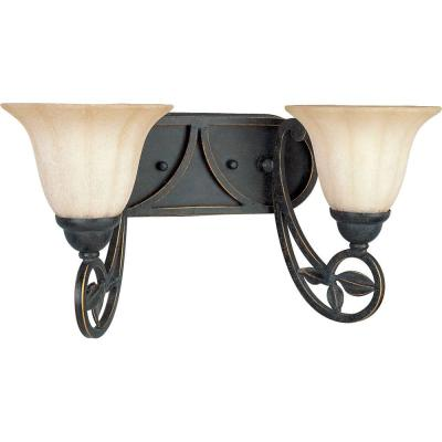 Progress Lighting Le Jardin Collection Espresso 2-light Vanity Fixture P2967-84