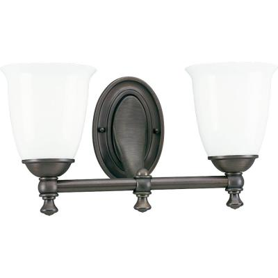 Progress Lighting Victorian Collection Venetian Bronze 2-light Vanity Fixture P3028-74