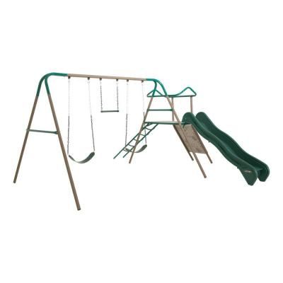 Earth Tone Climb and Slide Playset