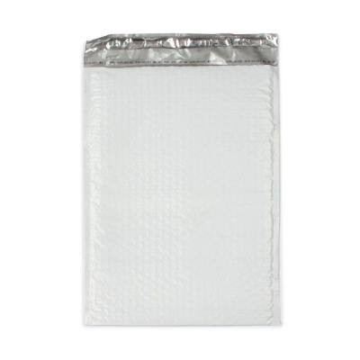 10.5 in. x 15.25 in. White Poly Bubble Mailers with Adhesive