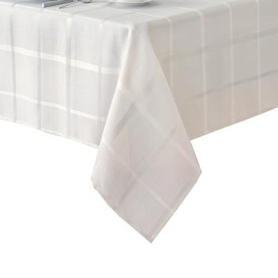 Elrene 60 in. W x 144 in. L Elrene Elegance Plaid Damask Fabric Tablecloth