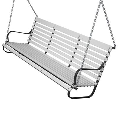 Ivy Terrace 60 in. Black and White Patio Swing-DISCONTINUED