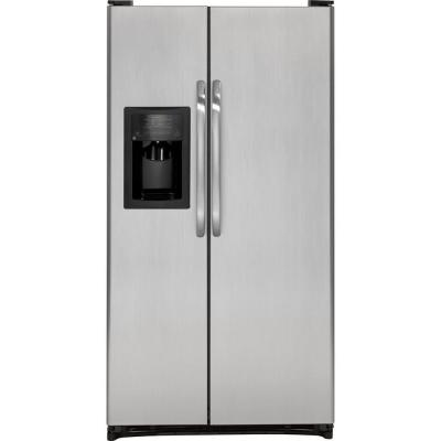 GE 33.5 in. W 21.9 cu. ft. Side by Side Refrigerator in CleanSteel