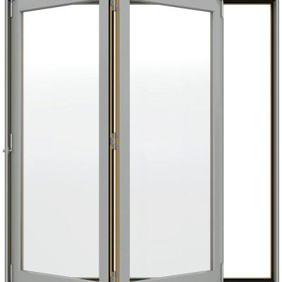 74.5 in. x 96.375 in. W-4500 Series Left-Hand Folding Wood Patio Door Product Photo