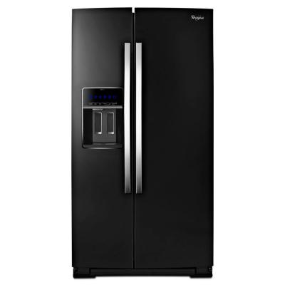 Whirlpool Gold 24.5 cu. ft. Side by Side Refrigerator in Black Ice, Counter Depth