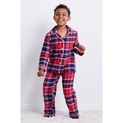 Family Flannel Kid's Whitaker Plaid 2-Piece Classic Pajama Set