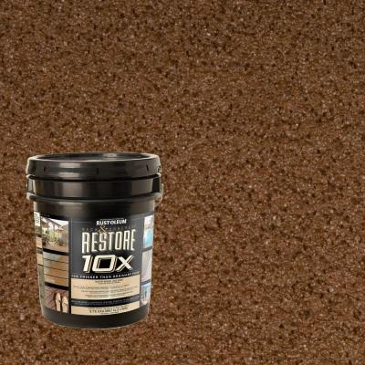 Rust-Oleum Restore 4-gal. Chocolate Deck and Concrete 10X Resurfacer
