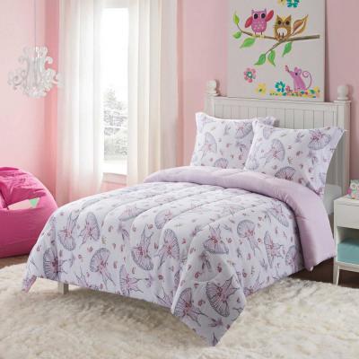 Swan Lake Pink Comforter Set