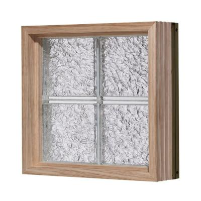 Pittsburgh Corning 56 in. x 16 in. LightWise IceScapes Pattern Aluminum-Clad Glass Block Window