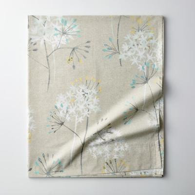 Summer Dandelion 300-Thread Count Organic Cotton Percale Flat Sheet