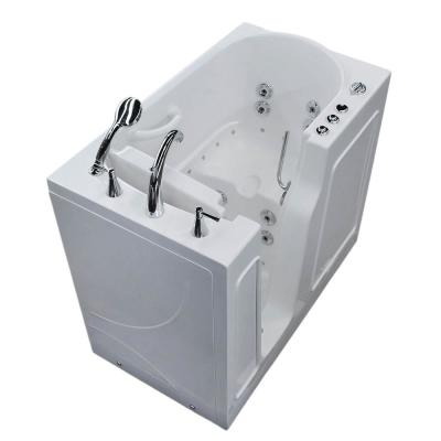 Universal Tubs 3.9 ft. Left Drain Walk-In Whirlpool and Whirlpool Air Bath Tub in White