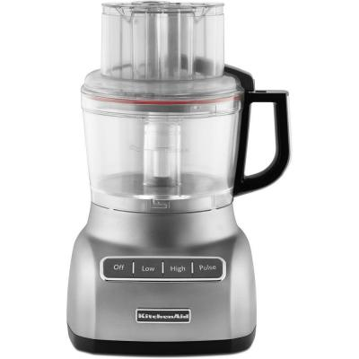 KitchenAid ExactSlice System 9-Cup Food Processor with 3-Cup Mini Bowl in Contour Silver